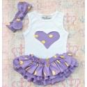Σετ για κορίτσι Gold dots lavender