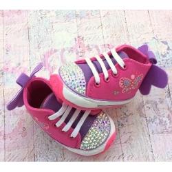 παπουτσια ''Butterfly'' fuchsia με κρυσταλλα