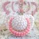 Πιπίλα Nuk με ροζ και λευκές πέρλες