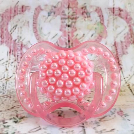Πιπίλα Avent με ροζ πέρλες