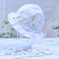 Βρεφικό καπέλο Pearls and krystals