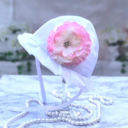 Βρεφικό καπέλο Pink flower