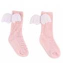 Βρεφικές κάλτσες Angel wings ροζ