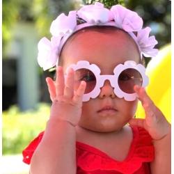 Παιδικά γυαλιά ηλίου για κορίτσια λευκό