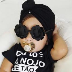 Παιδικά γυαλιά ηλίου για κορίτσια μαύρο