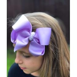 Κορδέλα με μεγάλο φιόγκο και πέρλες Lavender