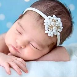Κορδέλα μαλλιών Lace pearl flower