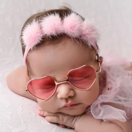Κορδέλα μαλλιών ροζ πομ πομ