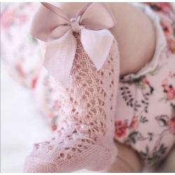 Καλτσάκια ψηλά για κορίτσι Dusty pink