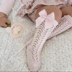 Καλτσάκια ψηλά για κορίτσι Pink
