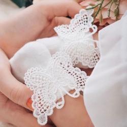 Καλτσάκια βαπτιστικά για κορίτσι Butterfly