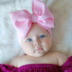 Κορδέλα μαλλιών με μεγάλο φιόγκο Pink