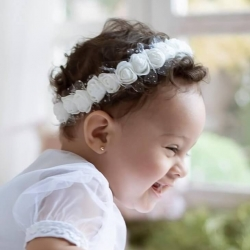 Στεφανάκι βάπτισης White roses