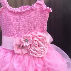 ζωνη ''Pink satin bouquet ''