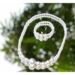Παιδικό κολιέ και βραχιόλι Pearls and crystals