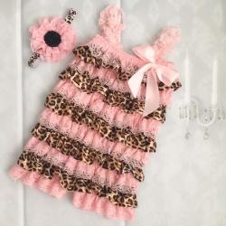 romper Pink & Leopard