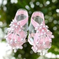 Βρεφικά σανδάλια Pink pearls