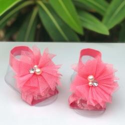 Βρεφικά σανδάλια Coral pearl flower
