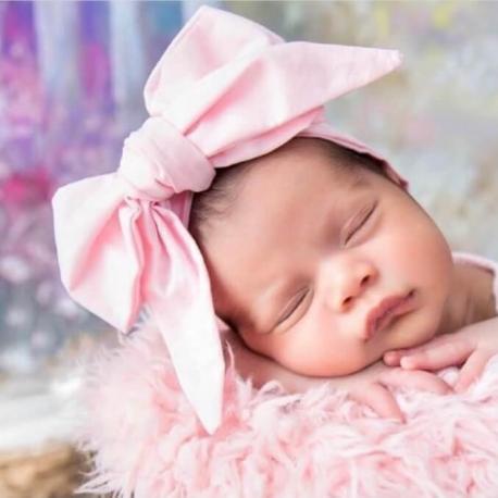 Κορδέλα με δέσιμο μεγάλο ροζ φιόγκο