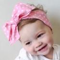 Κορδέλα με δέσιμο μεγάλο φιόγκο Ροζ πουά