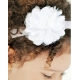 Satin tulle flower white
