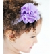 satin tulle flower purple
