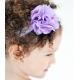 satin tulle flower purple