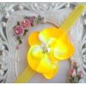 Κορδέλα μαλλιών Yellow orchid