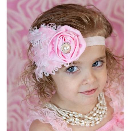 """Κορδελα """" baby pink feather"""""""
