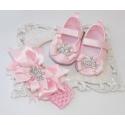 """Παπουτσακια """"Princess & diamante"""" με κορδελα"""
