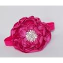 κορδέλα μαλλιών Fuchsia rhinestone flower