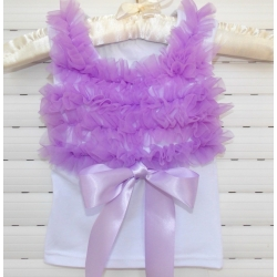 μπλουζάκι white with lavender chiffon