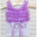 μπλουζάκι white with lavender chiffon