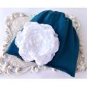 Σκουφάκι για κορίτσι Blue with flower