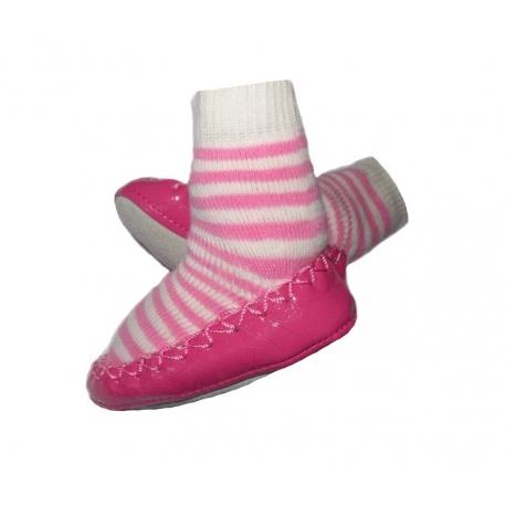 καλτσακια Pink & white