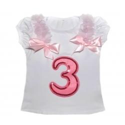 Μπλουζάκ (3) γενέθλια κοντομάνικο