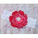 κορδελα Coral red vintage flower
