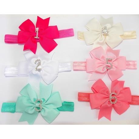 """κορδελα μαλλιων """"Birthday bow"""""""