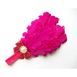 "Κορδελα ""Fuchsia feather"""