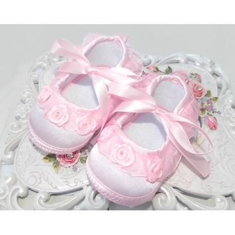 """Παπουτσακια """"Pink roses"""""""