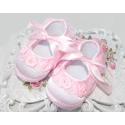 βρεφικά παπουτσάκια για κορίτσι Pink roses